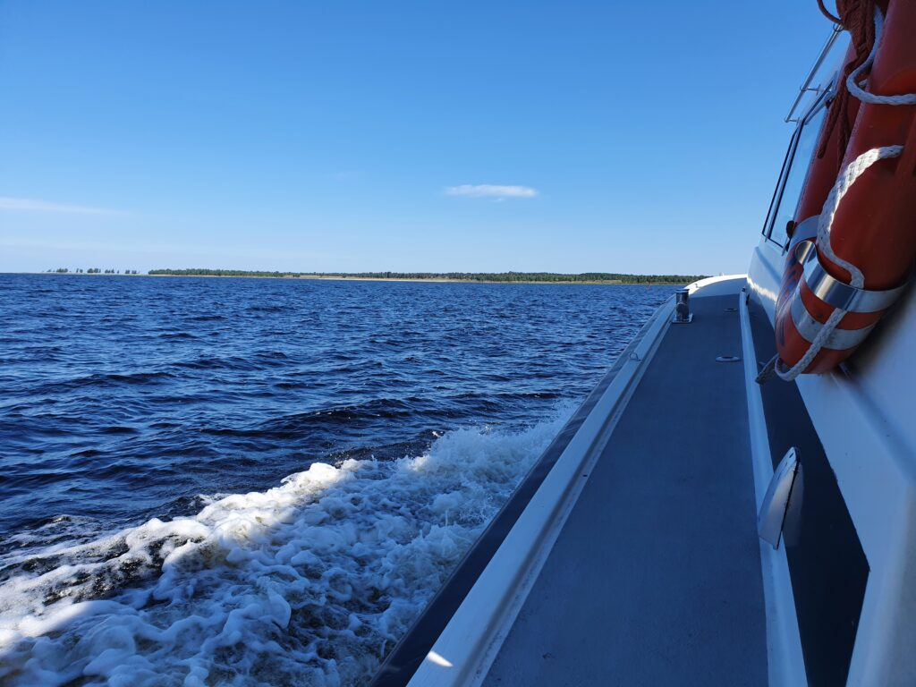 View from the Bothnian Bay, from deck of a boat